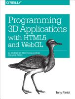 Programming 3D Applications with HTML5 and WebGL PDF