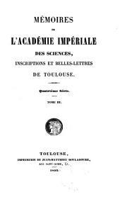 Mémoires de l'Académie des sciences inscriptions et belles-lettres de Toulouse