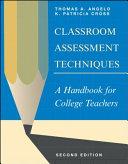 Classroom Assessment Techniques Book