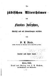 Die jüdischen Alterthümer des Flavius Josephus: Band 2