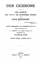 Der cicerone: th. Antike kunst. 1900