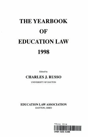 The Yearbook of Education Law 1998