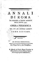 Annali di Roma opera periodica del sig. ab. Michele Mallio