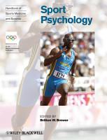 Handbook of Sports Medicine and Science  Sport Psychology PDF