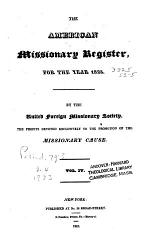 The American Missionary Register ...