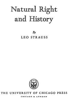 Natural Right and History PDF