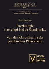 Psychologie vom empirischen Standpunkt. Von der Klassifikation psychischer Phänomene