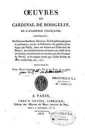 Oeuvres du cardinal de Boisgelin de Cucé,...