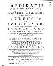 Predikatie over Righteren II vs. 7: Uytgesprooken in de Bisschoppelyke Hoofd-Kerk van Salisbury, Op den 6. October 1745 by gelegenheyd van de Rebellie in Schotland