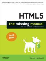 HTML5  The Missing Manual PDF
