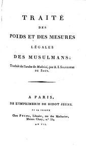 Traité des poids et des mesures légales des musulmans