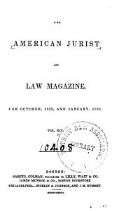 The American Jurist and Law Magazine: Volume 14