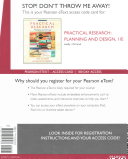 Practical Research  Planning and Design  Enhanced Pearson Etext    Access Card Book