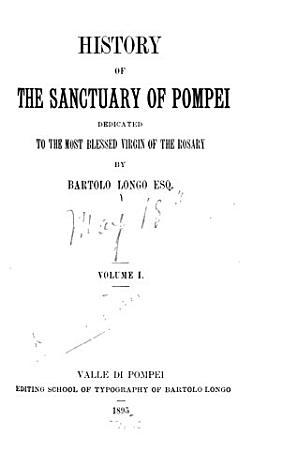History of the Sanctuary of Pompei PDF