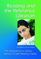 Reading and the Reference Librarian PDF