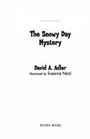 Cam Jansen the Snowy Day Mystery PDF