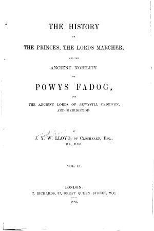 The History of the Princes  the Lords Marcher  and the Ancient Nobility of Powys Fadog PDF