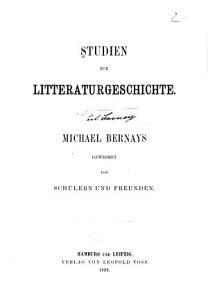 Studien zur Litteraturgeschichte PDF
