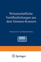 Wissenschaftliche Veröffentlichungen aus dem Siemens-Konzern: Erster Band 1920–1922