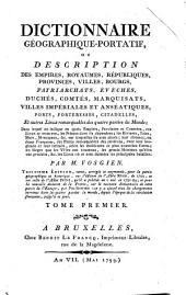 Dictionnaire géographique portatif...