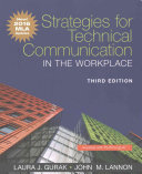 Strategies For Technical Communication In The Workplace Mla Update Edition