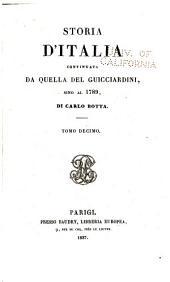 Storia d'Italia continuata da quella del Guicciardini, sino al 1789: Volume 10