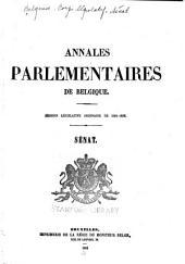 Annales parlementaires de Belgique: Session législative de ...