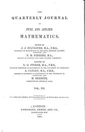 The Quarterly Journal of Pure and Applied Mathematics: Volume 7