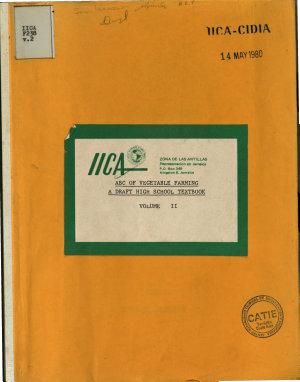 Abc of Vegetable Farming a Draft High School Textbook PDF