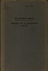 Bulletin of the Newberry Library: Issue 7