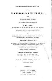 Sexti Iulii Africani Olympiadōn anagraphē: Adiectis ceteris quae ex Olympionicarum fastis supersunt