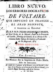 Libro nuevo: los errores dogmaticos de Voltaire