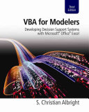 VBA for Modelers  Developing Decision Support Systems with Microsoft Office Excel PDF
