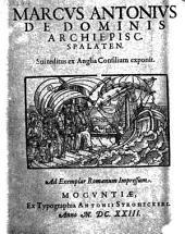 Sui reditus ex Anglia consilium exponit. Ad exemplar Romanum impr