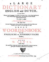 A new dictionary English and Dutch (Dutch and English).