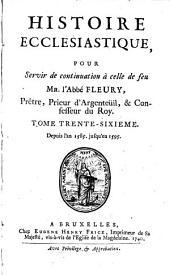 Histoire ecclésiastique: Volume36