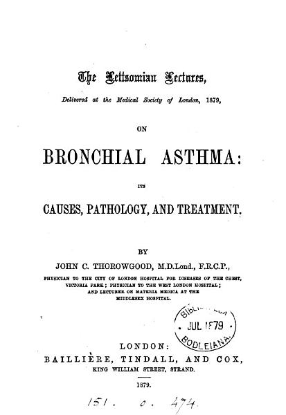 Download The Lettsomian lectures     1879  on bronchial asthma Book