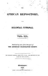 The African Repository: Volume 3