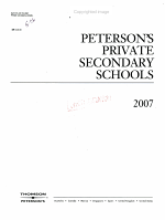Peterson's Private Secondary Schools 2007