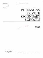 Peterson s Private Secondary Schools 2007 PDF