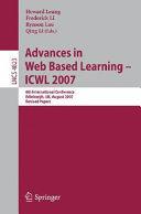 Advances in Web Based Learning - ICWL 2007