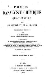 Précis d'analyse chimique qualitative