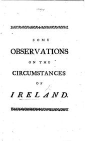 Some observations on the circumstances of Ireland
