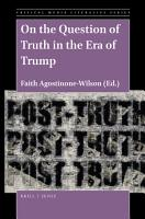 On the Question of Truth in the Era of Trump PDF
