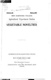 Vegetable novelties
