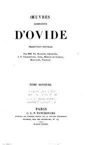Œuvres complètes d'Ovide: Volume7