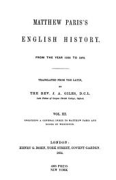 Matthew Paris's English History from the Year 1235 to 1273: Volume 3
