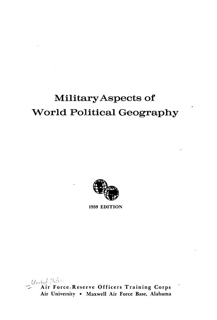 Military Aspects of World Political Geography