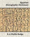 Egyptian Hieroglyphic Dictionary