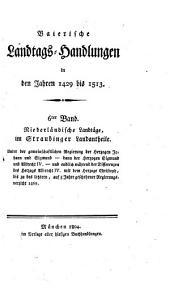 Baierische Landtags-Handlungen in den Jahren 1429 bis 1513: Niederländische Landtäge, im Straubinger Landantheile (1460 - 1469)